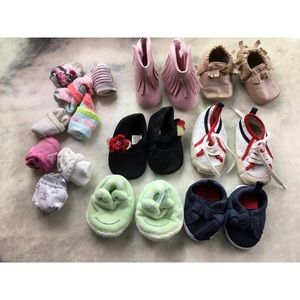 Bundle Lot of Baby Shoes Socks Koala Kids EUC